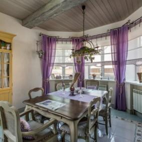 шторы для кухни в стиле прованс идеи декор