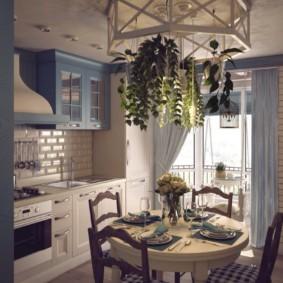 шторы для кухни в стиле прованс интерьер фото