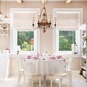 шторы для кухни в стиле прованс виды оформления