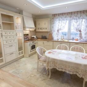 шторы для кухни в стиле прованс интерьер идеи