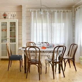 шторы для кухни в стиле прованс идеи интерьер