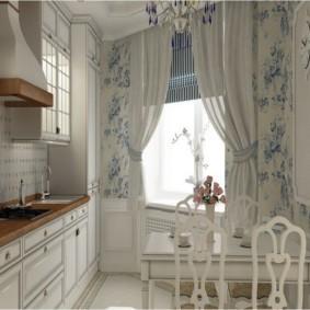 шторы для кухни в стиле прованс оформление фото