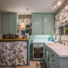 шторы для кухни в стиле прованс фото оформление