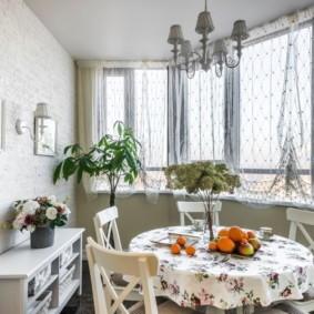 шторы для кухни в стиле прованс оформление идеи