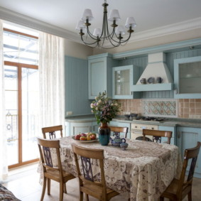 шторы для кухни в стиле прованс идеи оформления