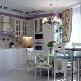 шторы для кухни в стиле прованс варианты