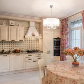 шторы для кухни в стиле прованс фото вариантов