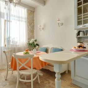 шторы для кухни в стиле прованс варианты идеи