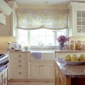 шторы для кухни в стиле прованс идеи вариантов