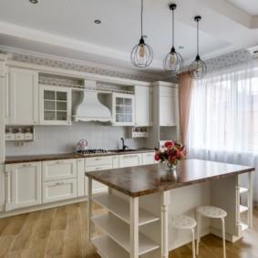 шторы для кухни в стиле прованс виды фото