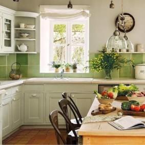 шторы для кухни в стиле прованс фото видов