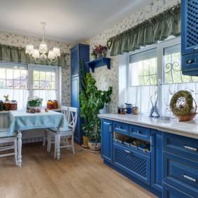 шторы для кухни в стиле прованс идеи виды
