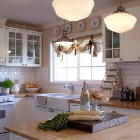шторы для кухни в стиле прованс виды дизайна