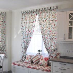 шторы для кухни в стиле прованс идеи дизайн