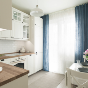 шторы для кухни в стиле прованс дизайн фото