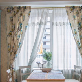шторы для кухни в стиле прованс декор