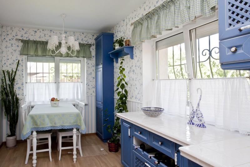 шторы для кухни в стиле прованс фото идеи