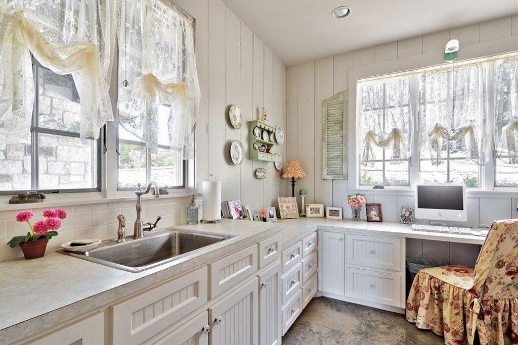 шторы для кухни в стиле прованс идеи фото