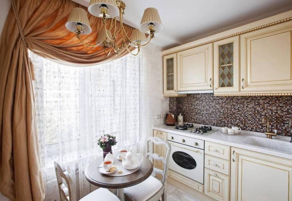 шторы для кухни в стиле прованс ламбрекен