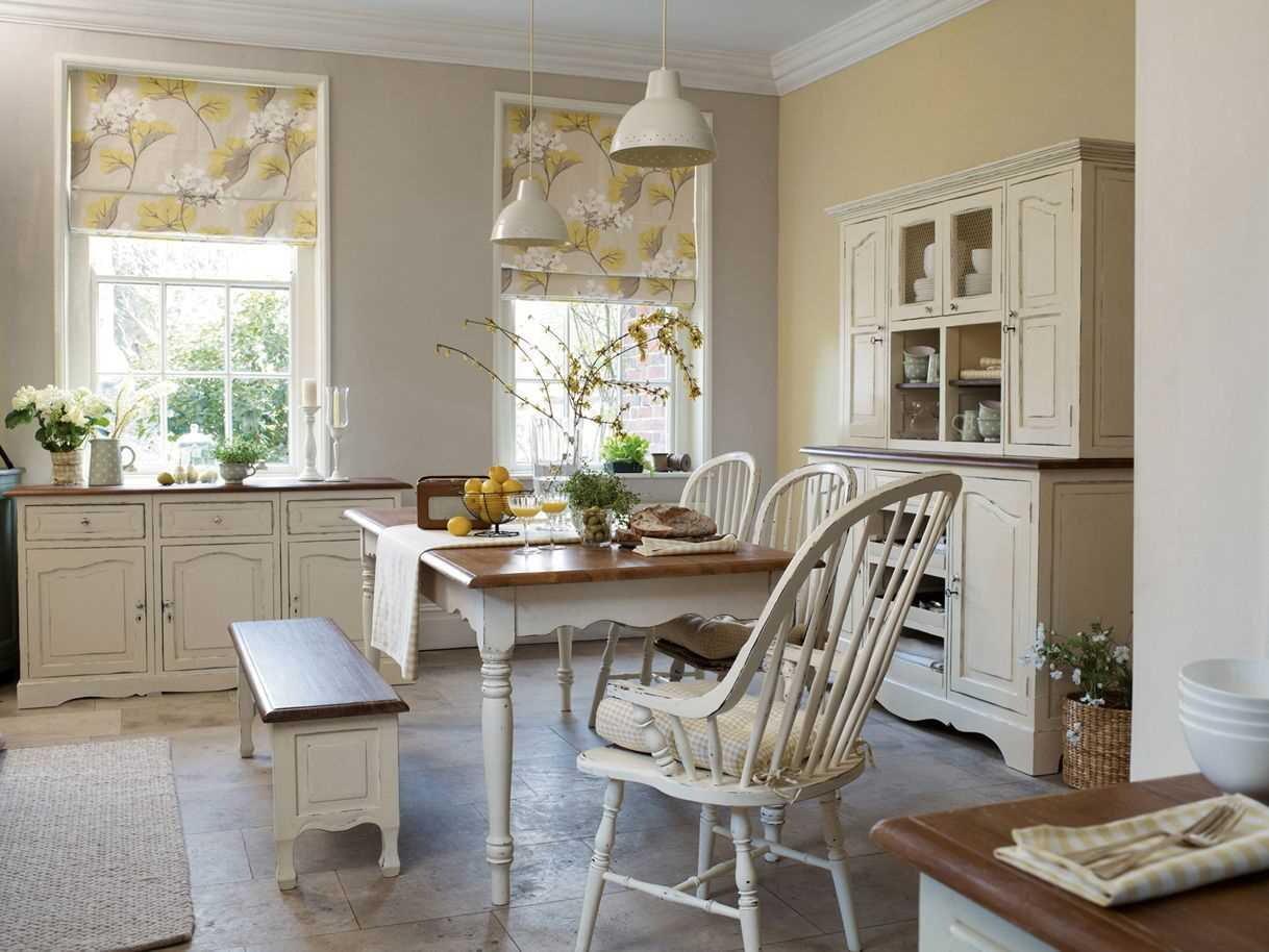 шторы для кухни в стиле прованс римские
