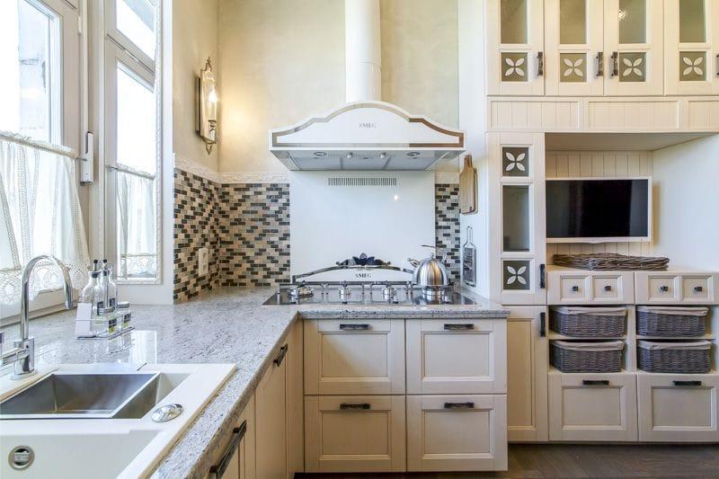 шторы кафе для кухни в стиле прованс