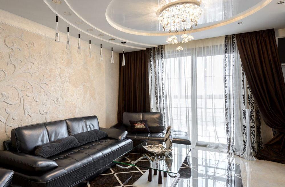 Красивые шторы в интерьере квартиры