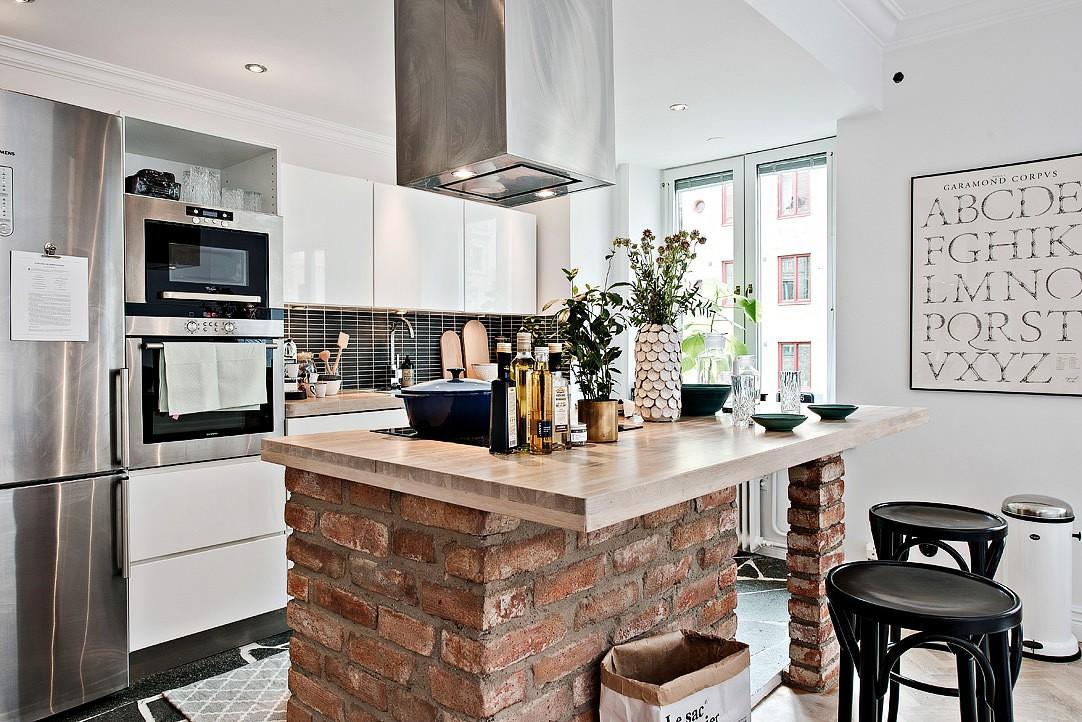 кухня в панельном доме в скандинавском стиле