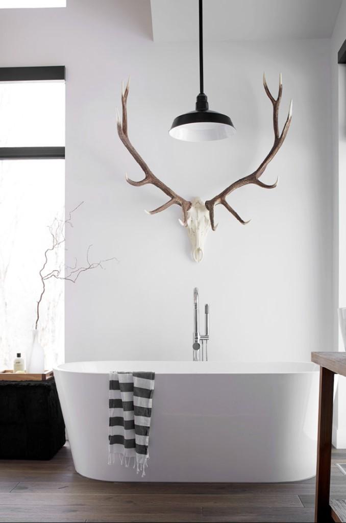 Интерьер ванны в скандинавском стиле