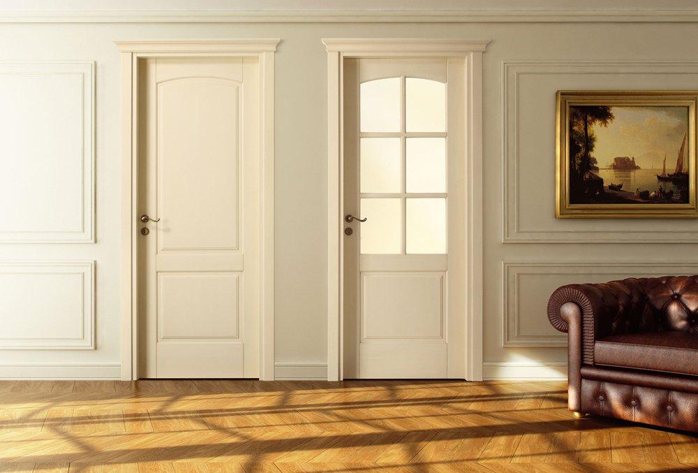 Дери слоновая кость в гостиной классического стиля