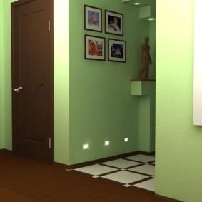 сочетание плитки и ламината в прихожей декор идеи