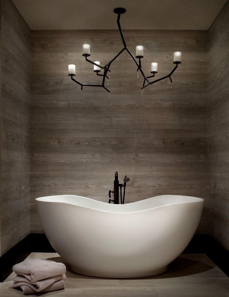 Акриловая ванна белого цвета в современном стиле