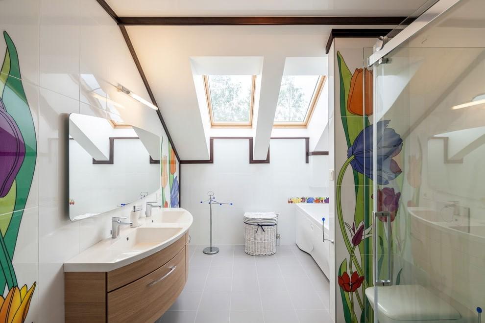 Современный стиль в оформление интерьера ванной