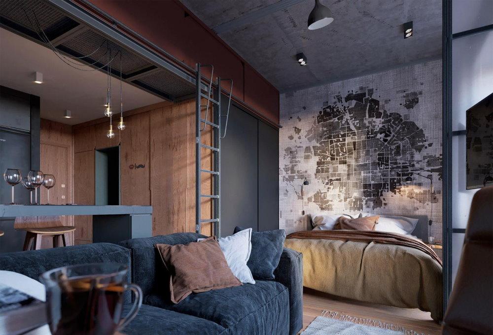 Спальное место в квартире-студии