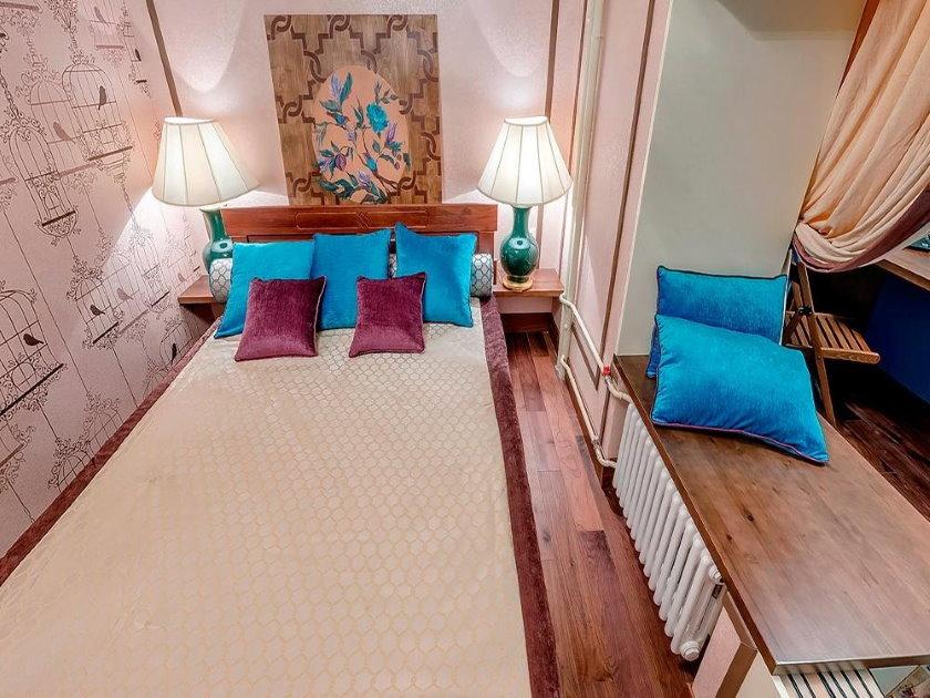 Спальное место на балконе после присоединения к комнате