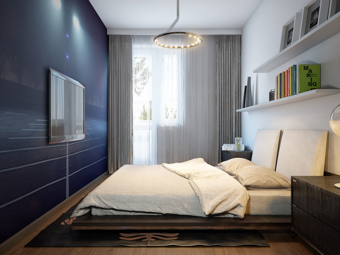 спальня 13 кв метров декор