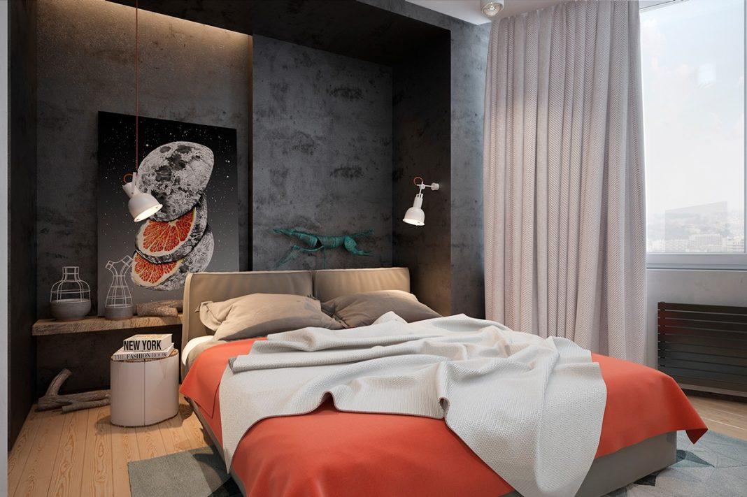 спальня 14 кв метров в стиле гранж