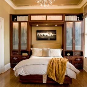 спальня 16 кв метров со шкафами