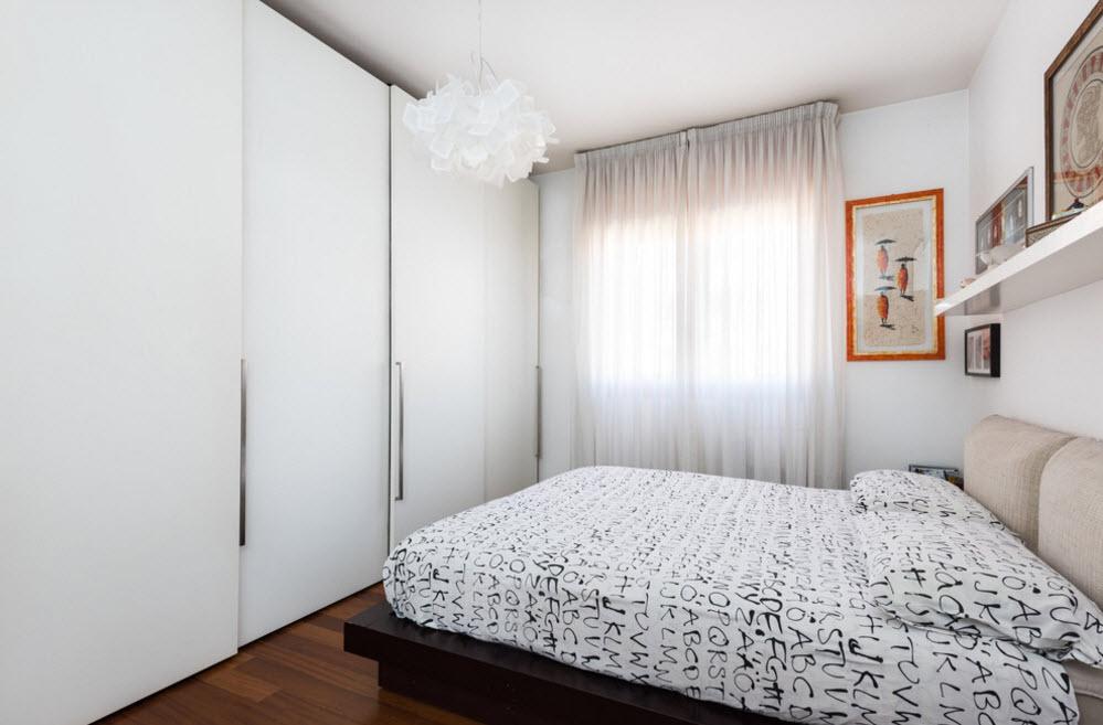 спальня 16 кв метров со шкафом купе