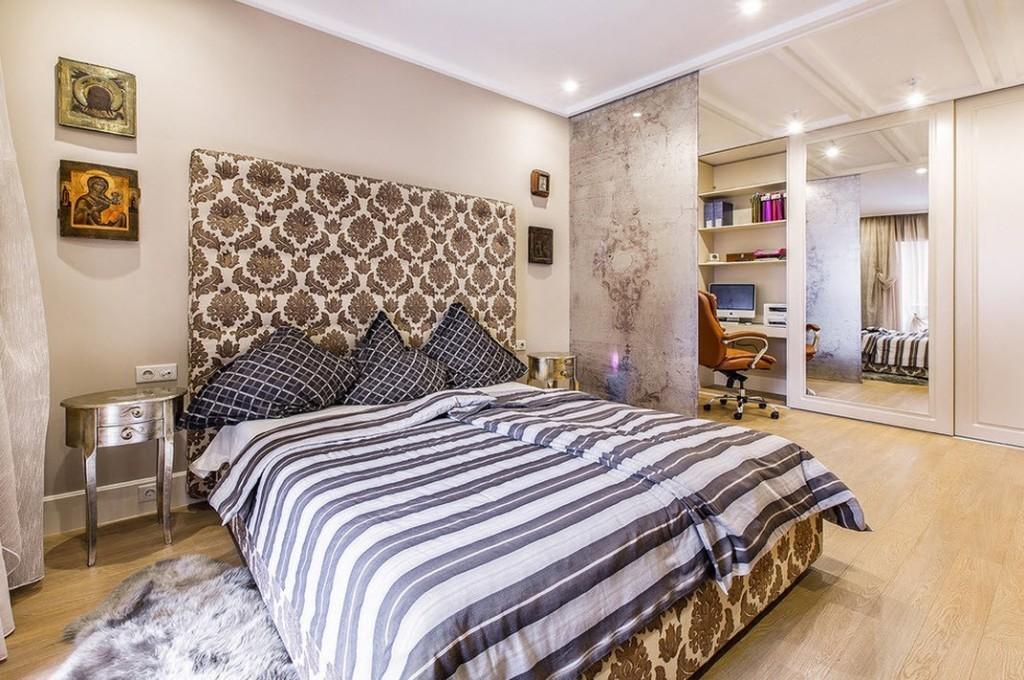 Зонирование спальной комнаты в жилище холостяка