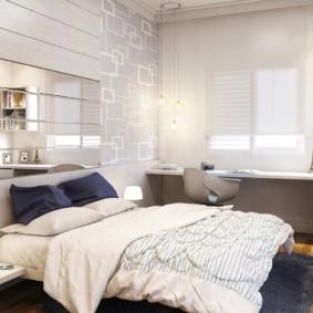 спальня площадью 5 на 5 метров идеи фото