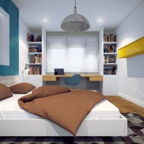спальня площадью 5 на 5 метров идеи дизайн