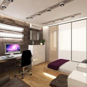 спальня площадью 5 на 5 метров идеи дизайна
