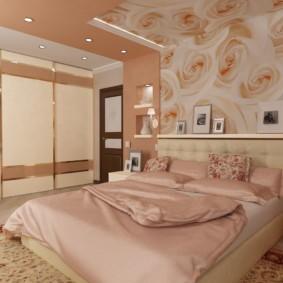 спальня площадью 5 на 5 метров декор фото