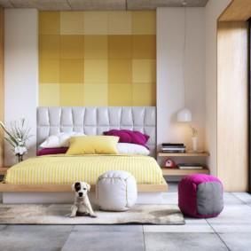 спальня площадью 5 на 5 метров фото декора