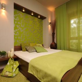 спальня площадью 5 на 5 метров декор идеи