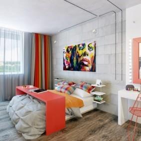 спальня площадью 5 на 5 метров фото интерьер