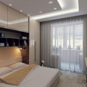 спальня площадью 5 на 5 метров интерьер идеи