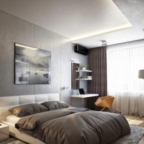 спальня площадью 5 на 5 метров варианты
