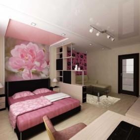 спальня площадью 5 на 5 метров фото варианты