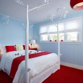 спальня площадью 5 на 5 метров варианты идеи
